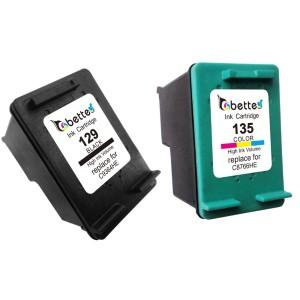 -1-пара-черный-цветной-струйный-для-HP-129-135-XL-C9364HE-C8766HE-принтер-картридж-для